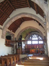 Inside Dodford church